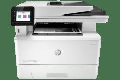 HP Laserjet Pro MFP M329dn printer, white / gray.