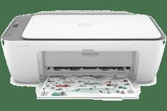 HP DeskJet 2719 printer, white / gray.