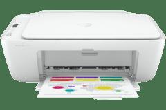 HP DeskJet 2752e printer, white.