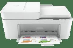 HP DeskJet 4110e printer, white.
