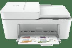HP DeskJet 4121e printer, white.