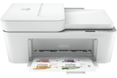HP DeskJet 4122e printer, white.