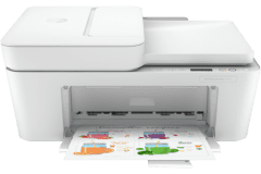 HP DeskJet 4152e printer, white.