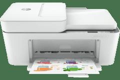 HP DeskJet 4158e printer, white.