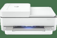 HP ENVY 6450e printer, white.