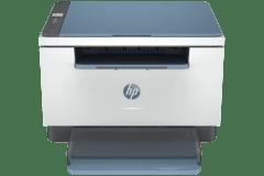 HP LaserJet M232dw printer, gray and blue.
